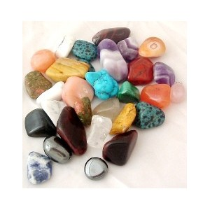 Mixed Bag of Crystals and Tumbled Gemstones