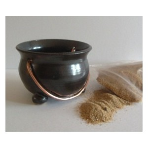 Ceramic Mini Cauldron for burning Incense